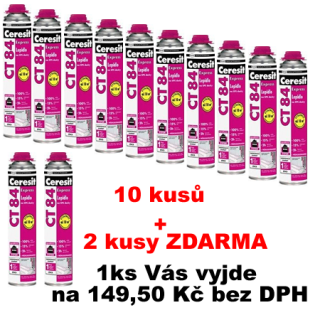 10+2 Ceresit Lepidlo PU na polystyren CT 84 Express 850 ml
